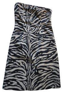 The Limited short dress Black Strapless Animal Print on Tradesy