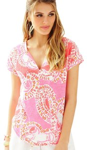 Lilly Pulitzer T Shirt Hot Coral