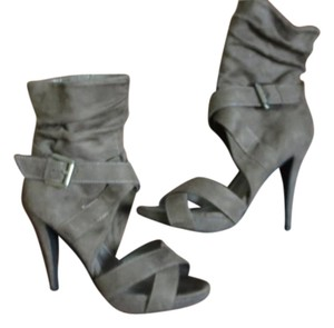 Chinese Laundry Open Toe Taupe Boots