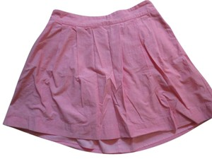 Lands' End Pleated Pocketed Skirt pink