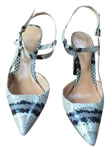 Sergio Rossi Vintage Snakeskin beige, black and grey Pumps