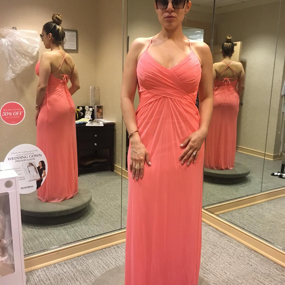Coral Reef Polyester Destination Bridesmaid/Mob Dress Size 4 (S ...