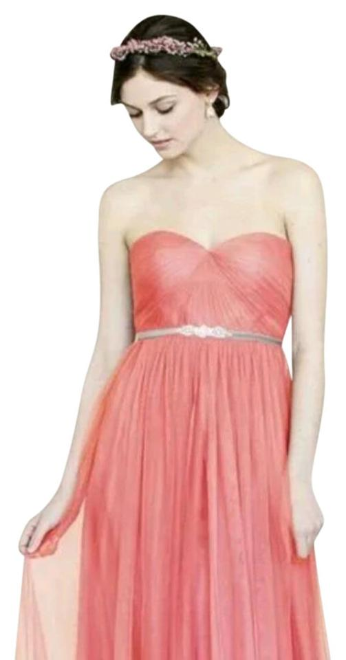Jenny Yoo Coral Dune Tulle Annabelle Formal Bridesmaid/Mob Dress ...