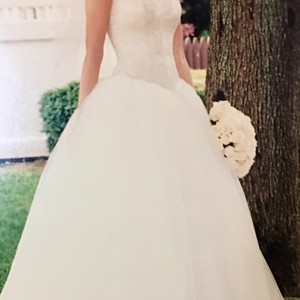 Beautiful Ivory Ballet Style Gown! Wedding Dress
