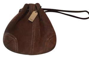 Coach Satchel in brown suede