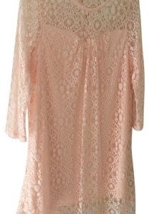 Monteau Los Angeles short dress peach on Tradesy