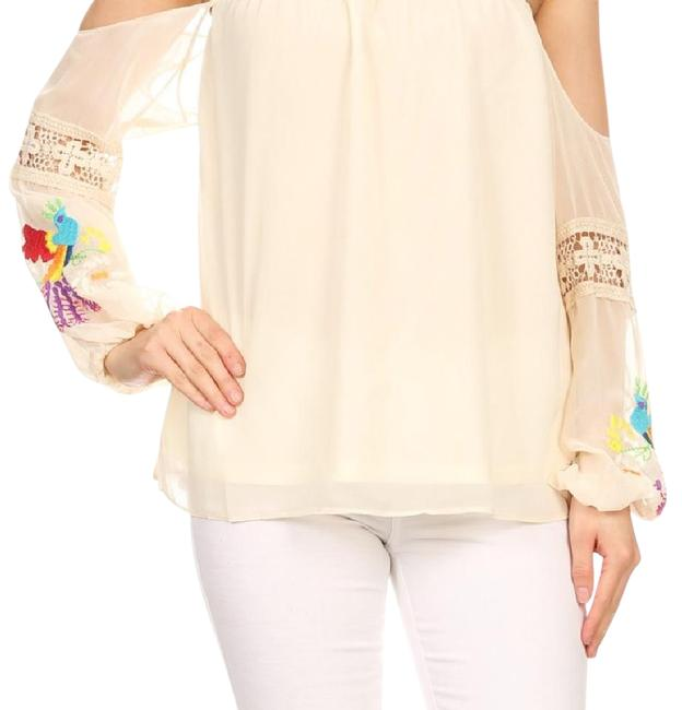 Vava by Joy Han Taupe Blouse Size 8 (M) Vava by Joy Han Taupe Blouse Size 8 (M) Image 1