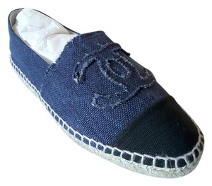 Chanel Espadrilles Canvas blue Flats