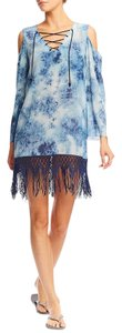 Nicole Miller Cold Lace Up Dress Tunic