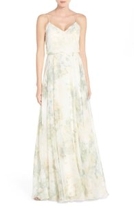 Jenny Yoo Vintage Ivory/Sage Inesse Gown Dress