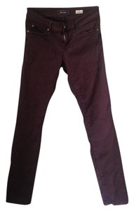Level 99 Jeans Comfortable Designer Skinny Pants Plum / Brown
