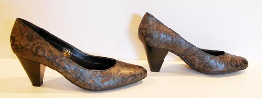Other Leather Comfortable Pewter metalic Pumps Image 1