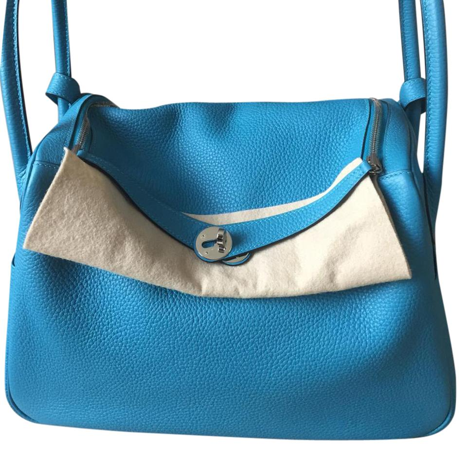 Hermès Lindy 34cm Tote Bleu Izmir Veau Taurillon Clemence Leather Shoulder  Bag 639c88b1d62a8
