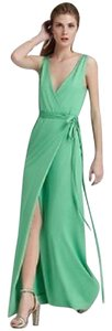 Diane von Furstenberg Belted Maxi Wrap Silk Dress
