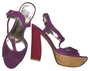 Pelle Moda purple, red, mustard Platforms