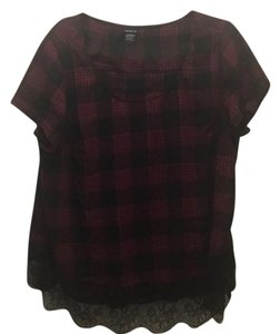 Torrid Top black and red