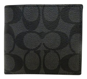 Coach Coach Signature Compact ID Double Billfold Wallet F74993