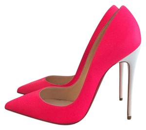 Christian Louboutin Hot Pink/White Pumps