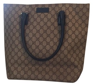 Gucci Tote in beige canvas and blue leather