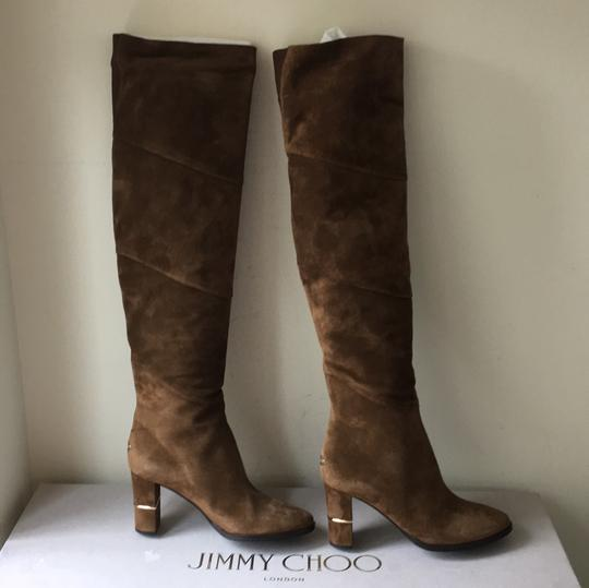 Jimmy Choo brown gold Boots Image 1