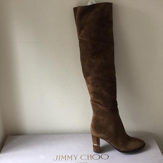 Jimmy Choo brown gold Boots Image 2