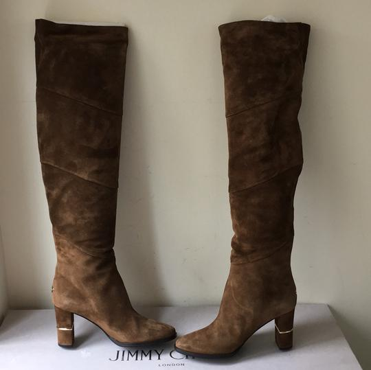 Jimmy Choo brown gold Boots Image 7