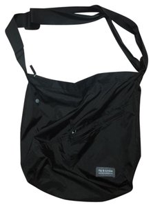 Flip And Tumble Travel Ripstop Nylon Travel Pouch Tote in Black