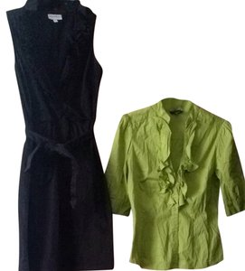 bebe short dress Black, Green on Tradesy