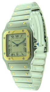 Cartier Cartier Santos Galbee 18K YG/SS 29mm Date Quartz Watch & Box