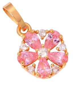 Other New Pink Topaz Yellow Gold Filled Pendant