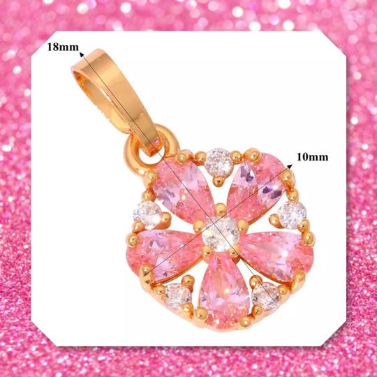 Other New Pink Topaz Yellow Gold Filled Pendant Image 1