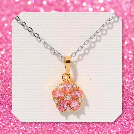 Other New Pink Topaz Yellow Gold Filled Pendant Image 2