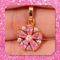 Other New Pink Topaz Yellow Gold Filled Pendant Image 3