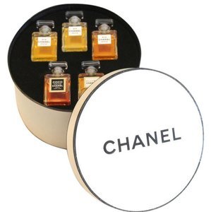 Chanel New The Art of Chanel Assorted Parfum Perfume Round Hat Box Display