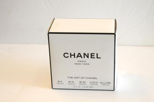 Chanel New The Art of Chanel Assorted Parfum Perfume Round Hat Box Display Image 3