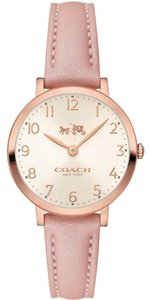 Coach Coach Ultra Slim 14502565 Pink Leather Rose Gold Tone Watch
