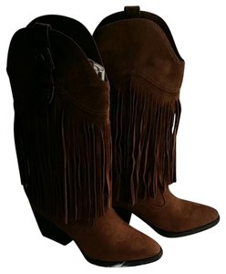 Madden Girl Suede Cowboy chestnut brown Boots