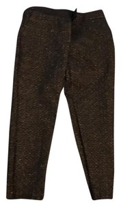 Ann Taylor LOFT Straight Pants navy blue with gold shimmer