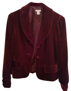 Halogen Velvet Hollywood Maroon Blazer