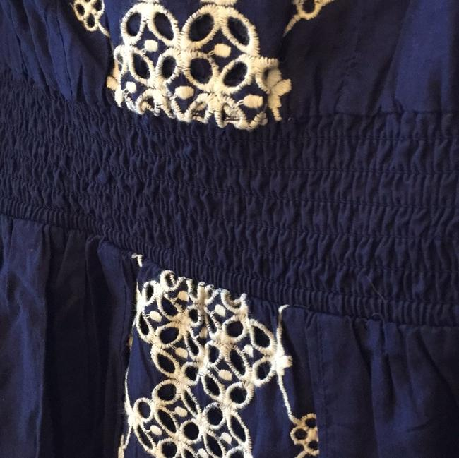Anthropologie short dress Navy Cotton Embroidered on Tradesy Image 3