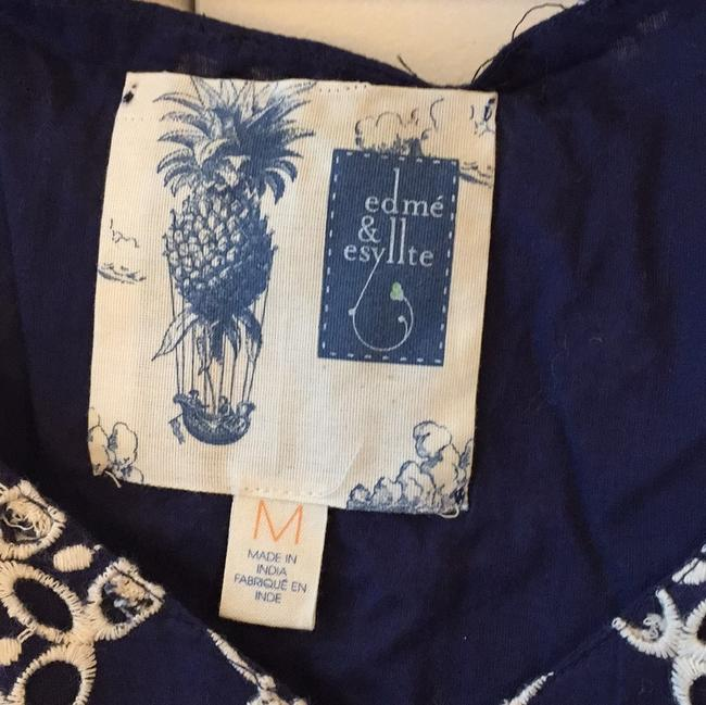 Anthropologie short dress Navy Cotton Embroidered on Tradesy Image 5