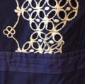 Anthropologie short dress Navy Cotton Embroidered on Tradesy Image 6