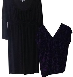 New York & Company short dress Violet, Purple, Black on Tradesy