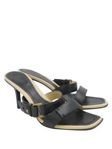 Gucci Heels Strappy Heels Black and Nude Sandals