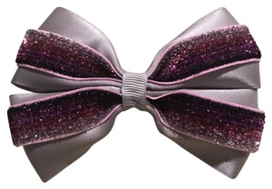 Other Handmade silver satin and purple bow!!!
