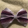 Other Handmade silver satin and purple bow!!! Image 1