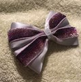 Other Handmade silver satin and purple bow!!! Image 2