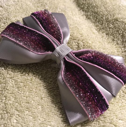 Other Handmade silver satin and purple bow!!! Image 4