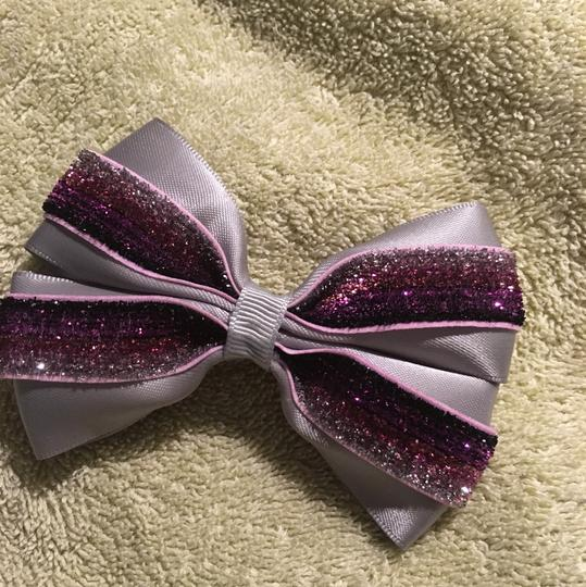 Other Handmade silver satin and purple bow!!! Image 5