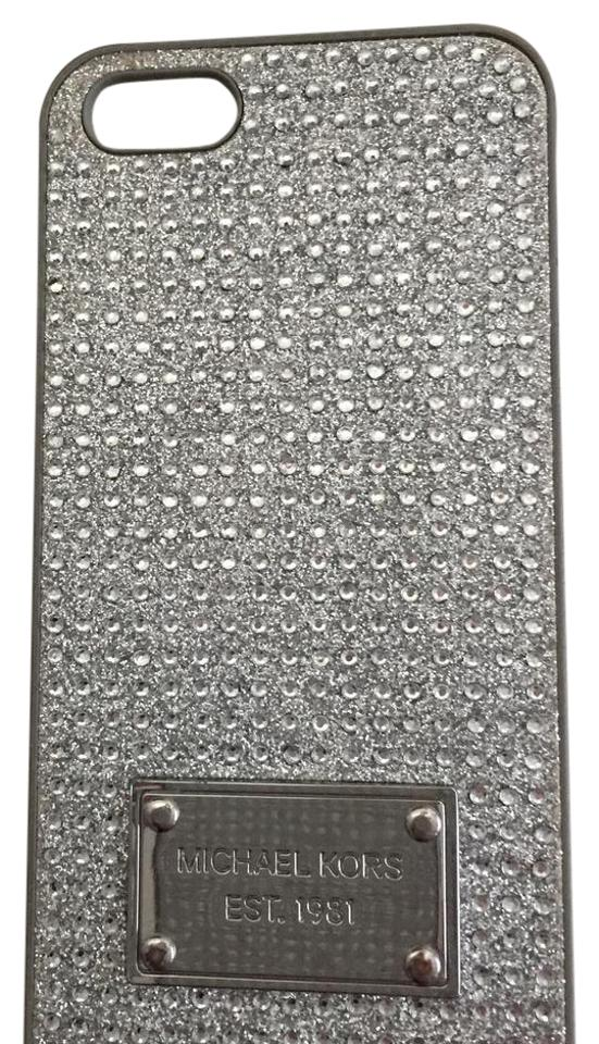 97b6730c554c Michael Kors Silver Pave Crystals Iphone 5 Case Iphone 6 Case Each Total  Tech Accessory